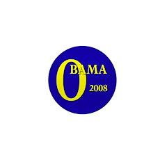 Blue O: Obama 2008 Mini Button