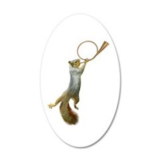 Squirrel Blowing Horn Wall Decal
