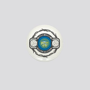 Nebraska Volleyball Mini Button