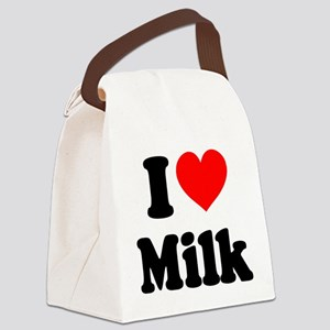 I Heart Milk Canvas Lunch Bag