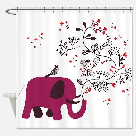 Love Elephant Shower Curtain