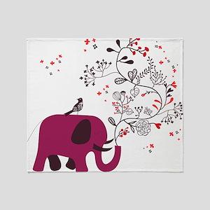 Love Elephant Throw Blanket