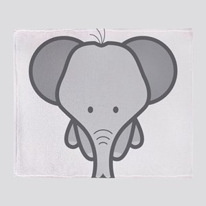 Gray Baby Elephant Throw Blanket