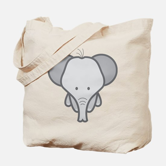Gray Baby Elephant Tote Bag