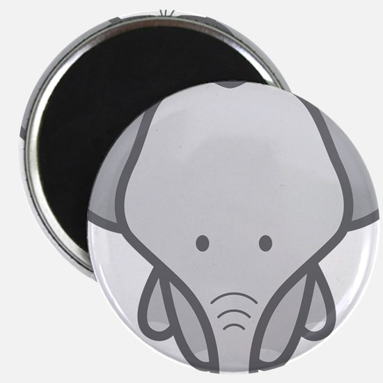 "Gray Baby Elephant 2.25"" Magnet (10 pack)"