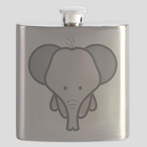 Gray Baby Elephant Flask