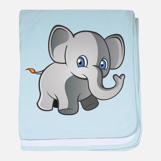 Baby Elephant 2 baby blanket