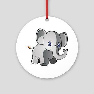 Baby Elephant 2 Ornament (Round)