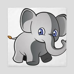 Baby Elephant 2 Queen Duvet