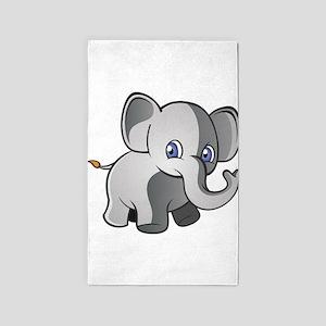 Baby Elephant 2 3'x5' Area Rug