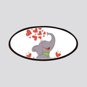 Elephant with Hearts Patches