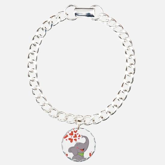 Elephant with Hearts Bracelet
