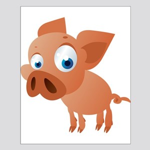 Funny Cartoon Pig Posters