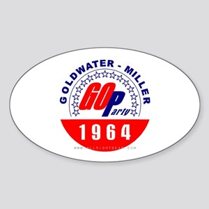 Goldwater Miller 1964 Oval Sticker