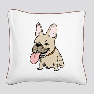Frenchie Square Canvas Pillow