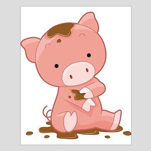 Pig in Mud Posters