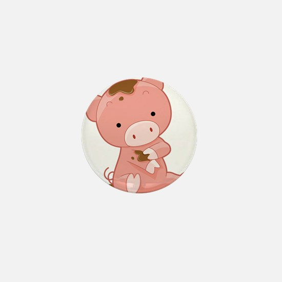 Pig in Mud Mini Button