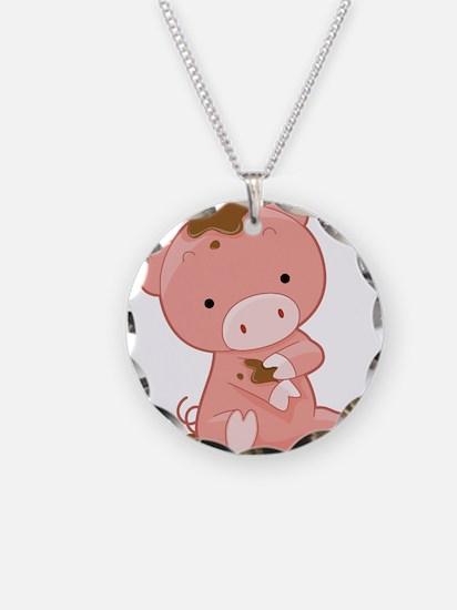 Pig in Mud Necklace