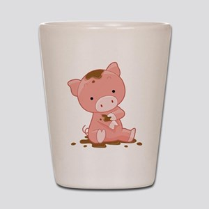 Pig in Mud Shot Glass