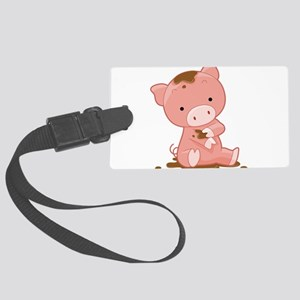 Pig in Mud Luggage Tag