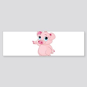 Cute Pig Bumper Sticker