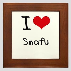 I love Snafu Framed Tile