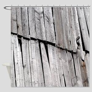 Weathered Barnwood Shower Curtain