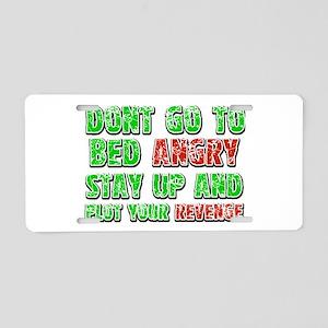 Funny Designs Aluminum License Plate