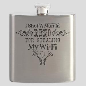 Shot a Man in Reno Flask