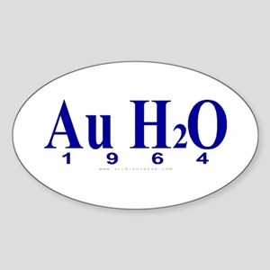 Au H2O (Goldwater) Oval Sticker