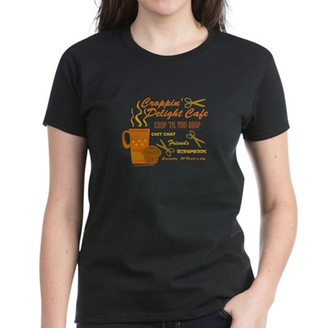 Croppin' Delight Cafe V.1 Women's Dark T-Shirt