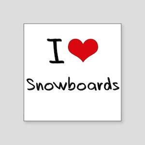 I love Snowboards Sticker