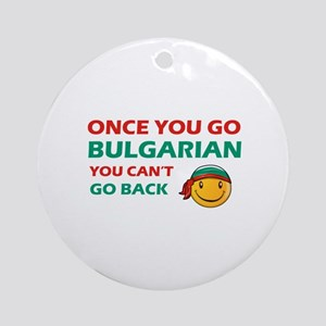 Bulgarian smiley designs Ornament (Round)
