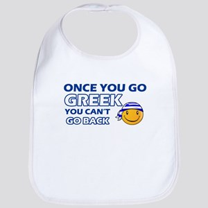 Greek smiley designs Bib