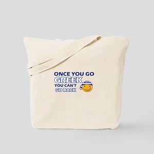 Greek smiley designs Tote Bag