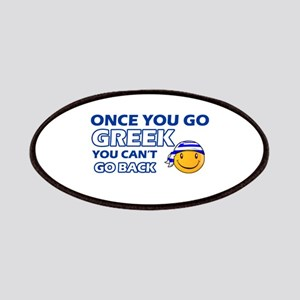 Greek smiley designs Patches