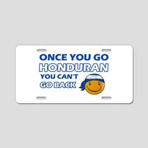 Honduran smiley designs Aluminum License Plate