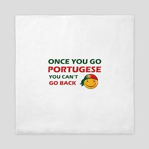 Portuguese smiley designs Queen Duvet