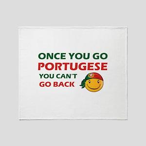Portuguese smiley designs Throw Blanket