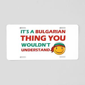Bulgarian smiley designs Aluminum License Plate
