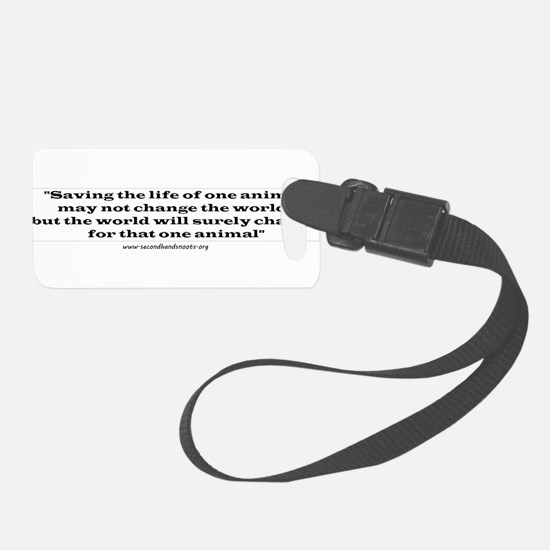 Change the World Luggage Tag