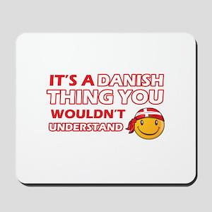 Danish smiley designs Mousepad