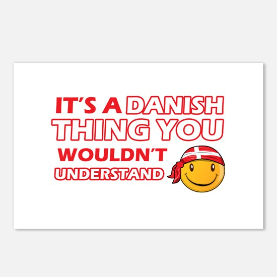 Danish smiley designs Postcards (Package of 8)