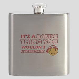 Danish smiley designs Flask