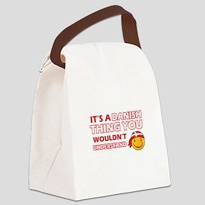 Danish smiley designs Canvas Lunch Bag