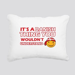 Danish smiley designs Rectangular Canvas Pillow