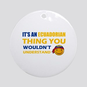 Ecuadorean smiley designs Ornament (Round)
