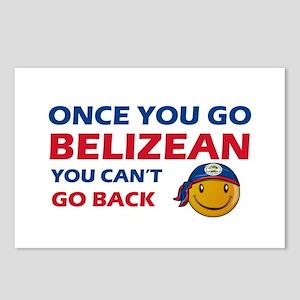 Belizean smiley designs Postcards (Package of 8)