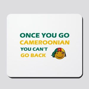 Cameroonian smiley designs Mousepad