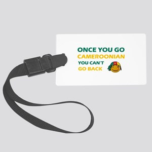 Cameroonian smiley designs Large Luggage Tag